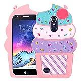 BEFOSSON Cute 3D Cartoon Ice Cream Phone Case for LG Aristo/Aristo 2 / Aristo 3 / Risio 2 / Fortune/Fortune 2 / Phoenix 3 / Phoenix 4 / Tribute Dynasty/Rebel 4 LTE/Rebel 3 LTE/LG K8 2017 Case
