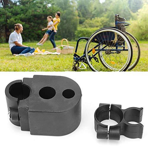 Cocoarm Stockhalter für Rollator und Rollstuhl Set für Gehstöcke Gehstock Grip Hält Rollstuhlhalter Stick Halterung Krückenhalter