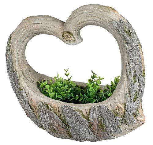 dekojohnson Moderne tuindecoratie hart bloempot 42 cm hoog grote plantenbak binnen/buiten plantenpot/plantenpot