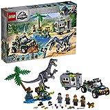 LEGO-Jurassic World L'affrontement du baryonyx la chasse au trésor Jouets Dinosaure 7 Ans et Plus, 434 Pièces 75935