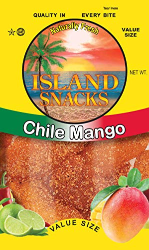 Island Snacks – Dried Chile Mango Fruit Slices – Value Size, 4 Ounces (Pack of 6) – Quality In Every Bite