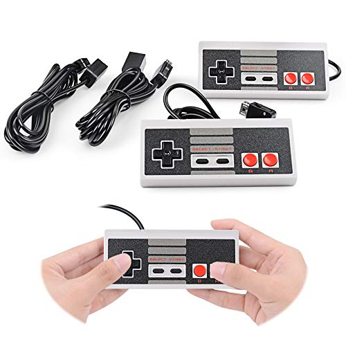 2-Pack NES Classic Edition/ Mini Controller For Replacement, With Extended 10ft Cable