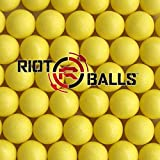 Yellow 100 X 0.68 Cal. PVC Nylon Riot Balls Self Defense Target Practice Paintballs Paintball Games …