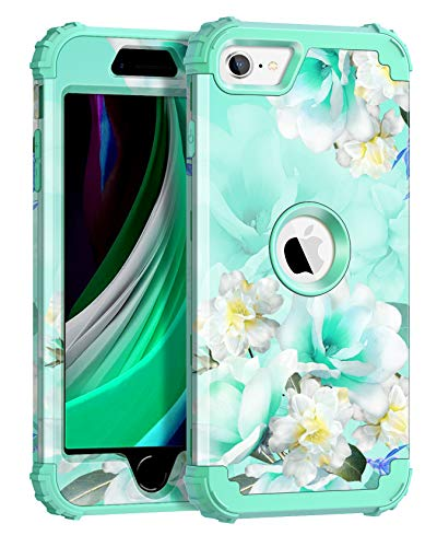 Casetego Compatible iPhone SE 2020 Case,Glitter Sparkle Shiny Three Layer