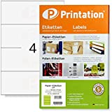Etichette universali, 210 x 74 mm, autoadesive, colore bianco, 400, 210 x 74,25 etichette ...