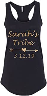 Custom Bride Brides Tribe Tank Tops Your Name Date, Bridal Shower Shirts, Bachelorette Party Personalized Tanks