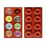 Roponan Silicone Ciambelle Stampo, 2 Pezzi Stampo Donuts, Teglia Antiaderente per Ciambelle, Torte, Biscotti, Bagel