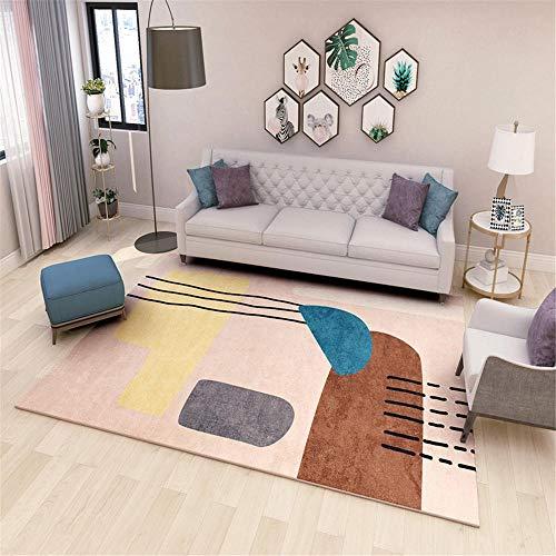 """Kunsen Protector Suelo Silla Ruedas alfombras Infantiles niña Crystal Velvet Pink Carpet Decoration Living Room Children's Room Anti-ski decoración habitación niña 160X200CM 5ft 3"""" X6ft 6.7"""""""