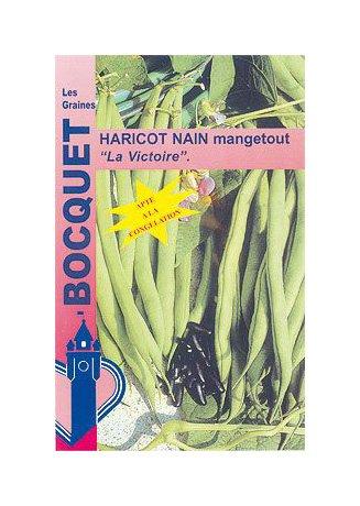 Les Graines Bocquet - Graines De Haricot Nain Mangetout La Victoire - 120G - Graines Potagères À Semer - Sachet De 120Grammes