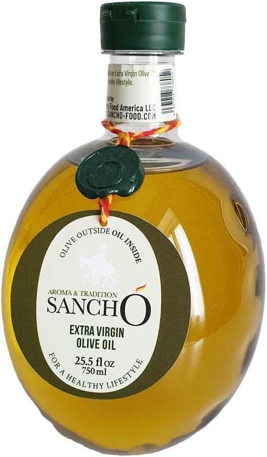 Aroma & Tradition Sancho – Aceite de Oliva Virgen Extra Arbequina 100% Obtenido en Frío - AOVE en Botella PET 750 ml - Formato Ideal para Utilizar en Casa - Pack 2