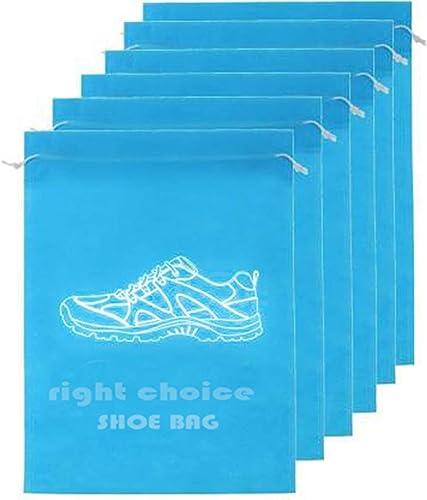 SHOE BAG SKY BLUE PACK OF 6