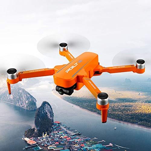 Taotuo Drone RC, JJRC X17 Drones con 6K Cámara dual GPS Quadcopter Flujo óptico Helicóptero de juguete sin escobillas, 30 minutos de tiempo de funcionamiento (amarillo-2 batería)