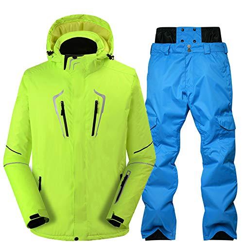SunFlower6666 Herren Skijacke Hosen Set Hohe Winddichte Technologie Professionelle Snowboard Anzüge (Style3BU, Small)