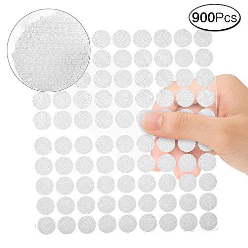 aoory Klett Punkte Klettpunkte 900 Stück Klettband Klebend Klettverschluss Rund 10 Mm Weiß