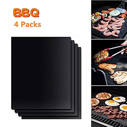 Shenlu BBQ Grill matten/oveninzetstukken, anti-aanbak-grillmat, herbruikbare en hittebestendige grillpads voor grillen, koken, bakken, grillen en oven, 15,7 x 13 inch (2 stuks)