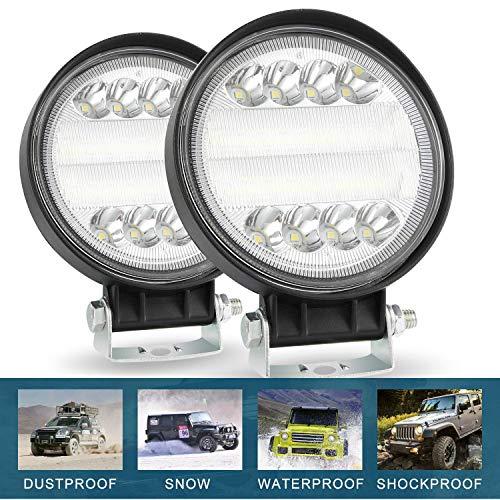 CICMOD 2× 72W Faro da Lavoro LED Auto 4'' 6000K 7200lm 12V 24V Luce Fari LED IP67 Impermeabile per off-Road Moto SUV ATV Camion