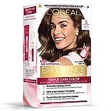 L'Oreal Paris Excellence Creme Hair Color, 5 Light Brown/Natural Brown, 72ml+100g
