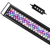 hygger Advanced Multi-Color Full Spectrum LED Aquarium Light with 24/7 Lighting Cycle Custom Color Intensity Fish Tank Light for 48-54 in Freshwater Planted Tank with Timer