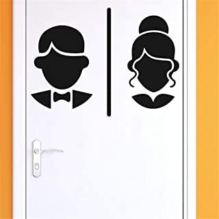 Decorative Wall Stickers Removable Vinyl Decal Art Mural Home Decor Portrait Man and Woman for Wc Toilet Door Sign Wall Sticker
