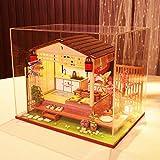 ToDIDAF Hölzernes Puppenhaus 3D DIY Miniaturhaus Möbel LED Haus Puzzle Geschenke für Kinder...