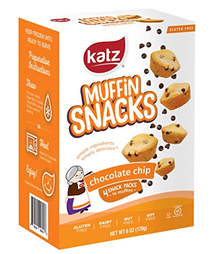 Katz Gluten Free Chocolate Chip Muffin Snacks | Dairy Free Nut Free Soy Free Gluten Free | Kosher 3 Packs 6 Ounce Each