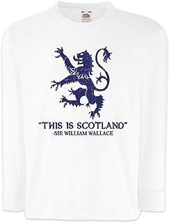 Urban Backwoods This Is Scotland Camisetas de Manga Larga T-Shirt para Niños Niñas