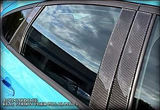 AUTOCARIMAGE Real Black Carbon Fiber Pillar Posts (B Pillars) Covers for Fiat 500 12 13 14 15 16 17 18 19-6 Pieces