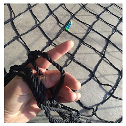 WWWANG Caja fuerte, decoración negra Balcón Balcón Stail Seguridad Negal Protección de la red Cerca de la escalada Cuerda Tejido Camión de carga Remolque de malla Redes para la protección de la barand