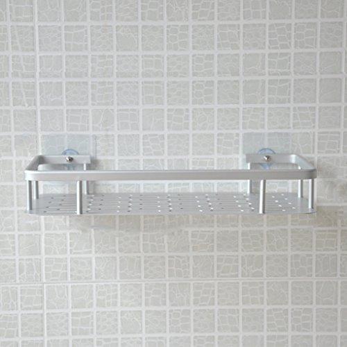 Étagère de douche en aluminium aéronautique antirouille avec ventouses super adhérentes, rangement pour de salle de bain ou cuisine