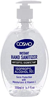 COSMO Advanced Instant Antiseptic & Disinfectant Hand Sanitizer, 500 ml