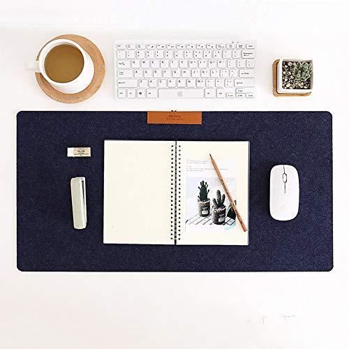 RONSHIN eenvoudige warme vilt doek kantoor tafel computer muis pad bureau toetsenbord muis mat marineblauw