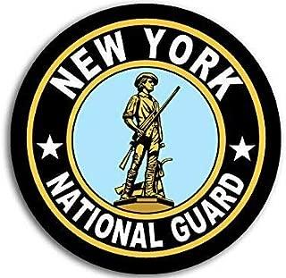 JR Studio 4x4 inch Round New York National Guard Seal Sticker (Logo Insignia Army) Vinyl Decal Sticker Car Waterproof Car Decal Bumper Sticker