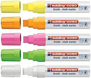 Krijt-/raammarker e-4090, 4-15 mm, 5 stuks neon licht