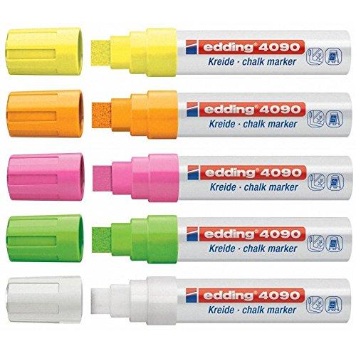Kreide-/Fenstermarker e-4090, 4-15mm, 5ST neon hell