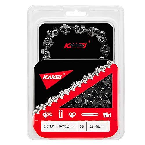 KAKEI Cadenas de motosierra de 3/8', 1,3 mm de grosor (.050'), 56 TG, 40 cm (16') – Compatible con Dolmar, Makita, Oregon, Black & Decker, Uno y otros (1)