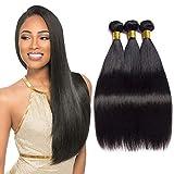 IFLY tissage brésilien lisse lot cheveux bresilien lisse tissage en lot tissage cheveux humain bresilienne raide mèches bresiliennes naturelles total(10 12 14pouce)