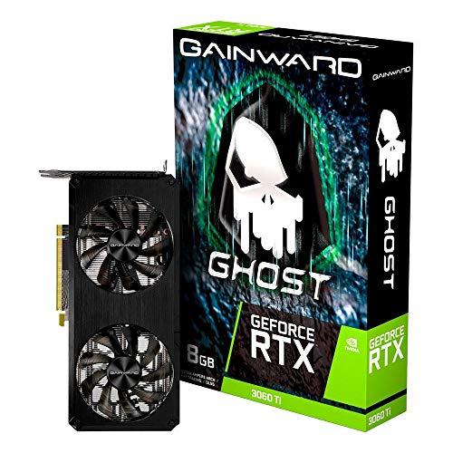 Placa de Vídeo GeForce RTX 3060 Ti GHOST 8GB GDDR6 256BITS Gainward - NE6306T019P2-190AB, 247mm x 120mm