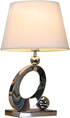Tischlampe Design Tischleuchte Chrom lila violett Leseleuchte Wohnzimmer Lampe