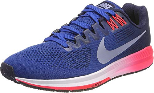 Nike Men's Running Shoes, Blue Blue Jay Obsidian Solar Red Glacier Grey, 8