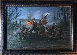 Jon McNaughton Crossing The Swamp Donald Trump Art Print-Framed 28.5 x 20.5