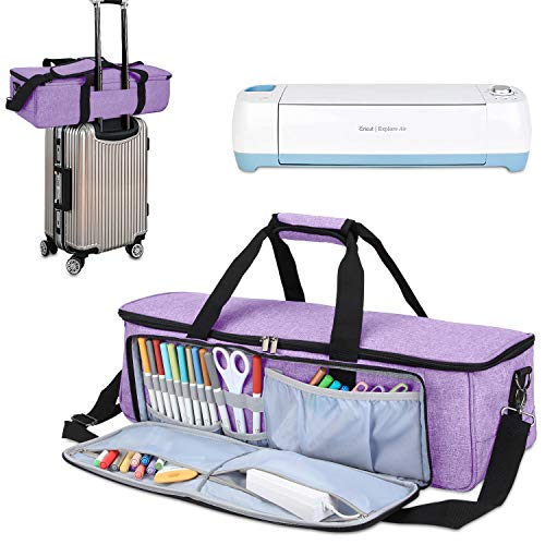 Luxja Carrying Bag Compatible with Cricut Die-Cutting Machine and Supplies, Tote Bag Compatible with Cricut Explore Air (Air2) and Maker (Bag Only, Patent Pending), Lavender