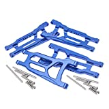CODA RACING 4-Pack Alloy Front&Rear Suspension Arms for Traxxas 1/10 4X4 Slash, Stampede, Rustler 4WD VXL-Replaces Part 3655