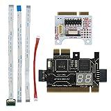 Exanko TL611 Pro Diagnostics Card PCI PCI-E PCI-E LPC Motherboard Tester Debug Cards Kit for Laptop Desktop Black