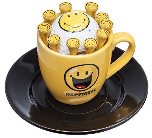 Sportiques espressokopje met golfbal smiley en thees | Een mooi golfgeschenk | verjaardagscadeau |