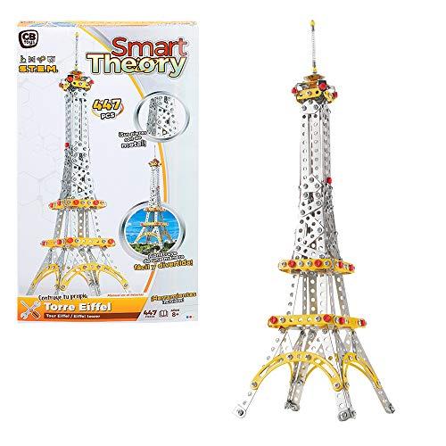 ColorBaby - Juego de construcción metal Torre Eiffel, 447 piezas Smart Theory (44827)