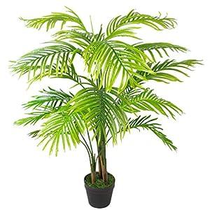 Silk Flower Arrangements Leaf LEAF-7253 130cm Artificial Areca Palm Tree-Extra Large, Green