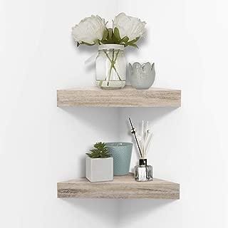 Best rustic floating corner shelf Reviews