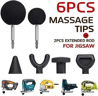 GekLok - 6 adaptadores de masaje y puntas para rompecabezas, herramienta de masaje de percusión, adaptador de punta con 2 varillas extendidas y 1 paño de microfibra, herramienta de masaje de percusión