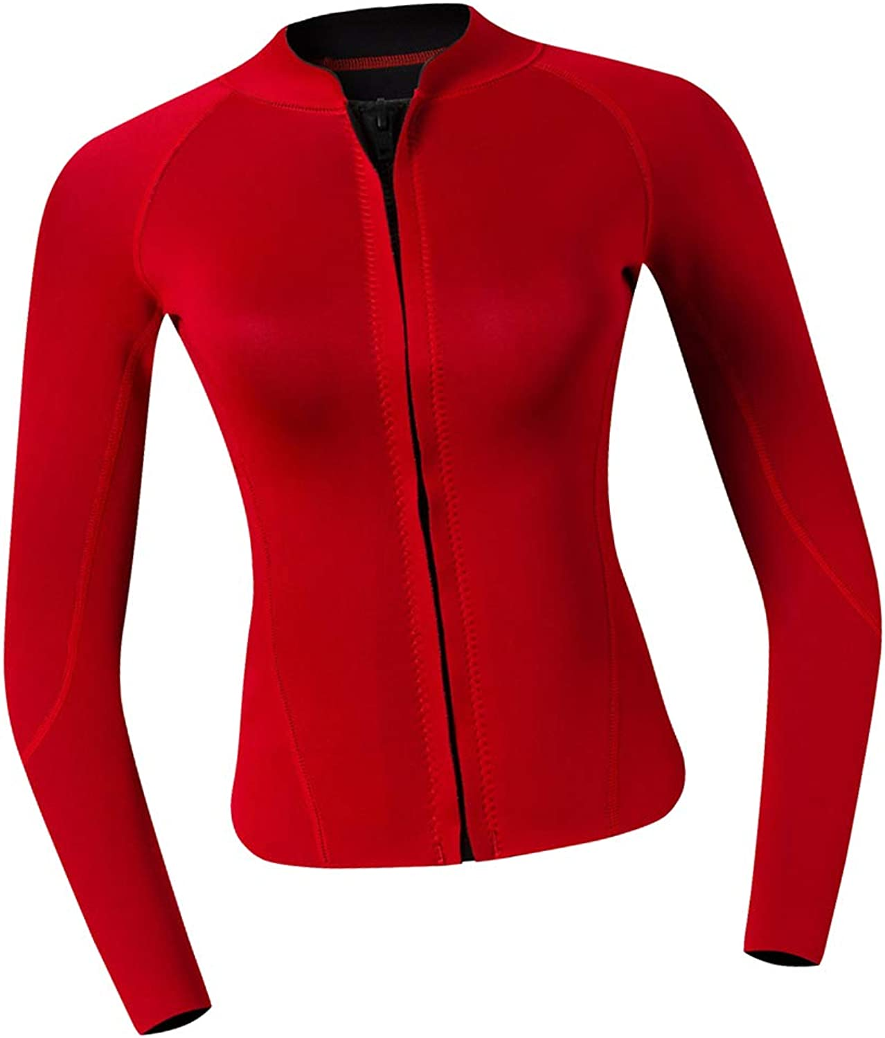 DYNWAVE Women Top Wetsuits Neoprene 2mm Water Sports Jackets Diving Suit for Diving, Snorkeling & Swimming Red