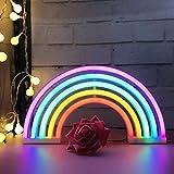 Regenbogen LED Leuchtreklamen Kunst Bunte Neon Lampe Nachtlichter Innenwanddekor für Home Party...